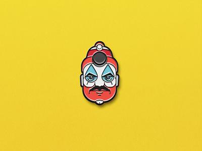 John Wayne Gacy, The Killer Clown serial killer serial pin clown murder killer illustration head face