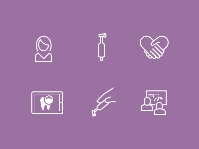 Dental hygeinist icons