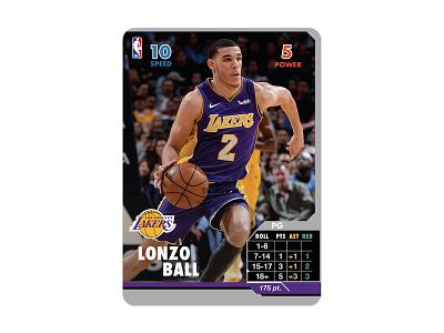 Lonzo Ball NBA Showdown Card lonzo lakers nba