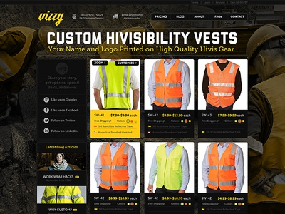 vizzy homepage