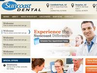 Suncoast Dental Website Design
