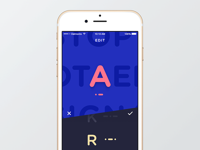 Morse code editing ios app morse code letter