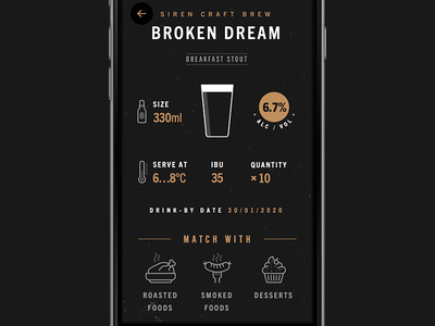Beer cellar beer dark ios iphone app typography icon