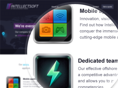 Landing page. See attached for details website icon map iphone site landing
