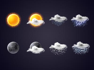 Weather icon set weather icon set sun cloud moon snow rain thunder