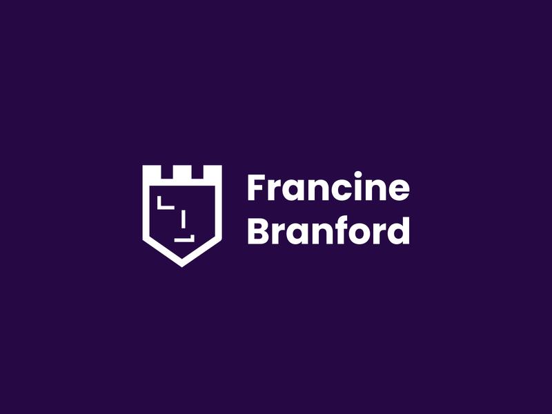 Francine Branford personal brand identitydesign logo flat identity branding design minimal branding logo design brand design