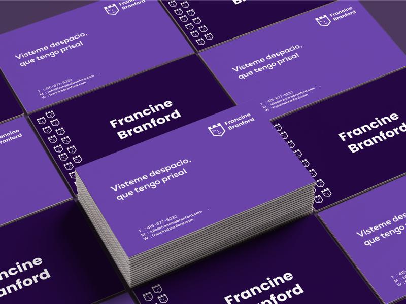 Business card - Francine Branford business card personal branding brand identity typography logo identity branding design minimal branding flat logo design brand design