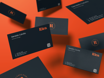 Business Card - Rico rico businesscard brand identity flat typography logo identity branding design minimal branding logo design brand design
