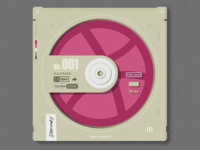 dribbble disc disc vintage cd
