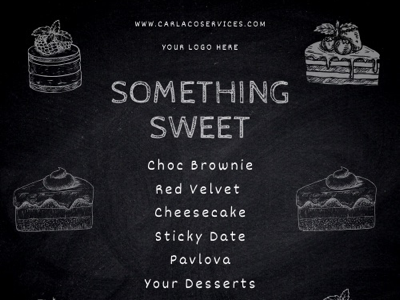 Dessert Menu Chalkboard Template