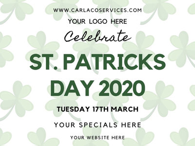 St. Patrick's Day Advertising Template