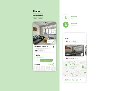Place - real estate app concept