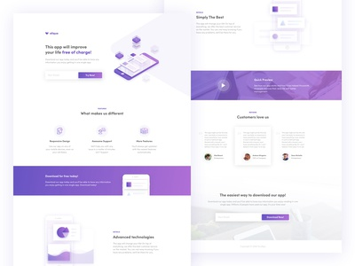 Mobile App Landing Page - Instapage Template