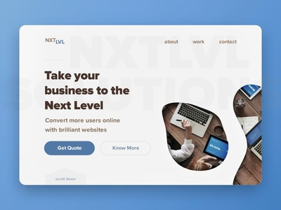 NXTLVL - Local Business next level modern business branding front end development webdesign