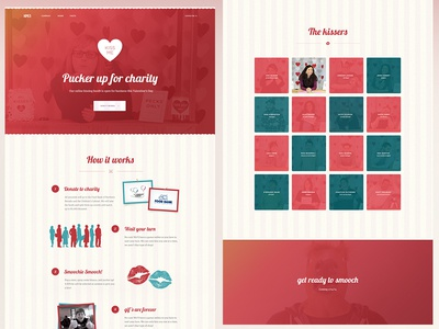 Kissing Booth - Landing Page kps3 reno kissing booth valentines day red kiss heart stripes