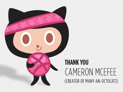 Dribbbocat - Thanks Cameron McEfee! dribbble mascot github octocat reno