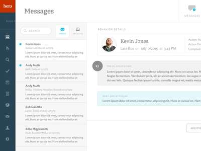Messaging messages brand hero app ui web