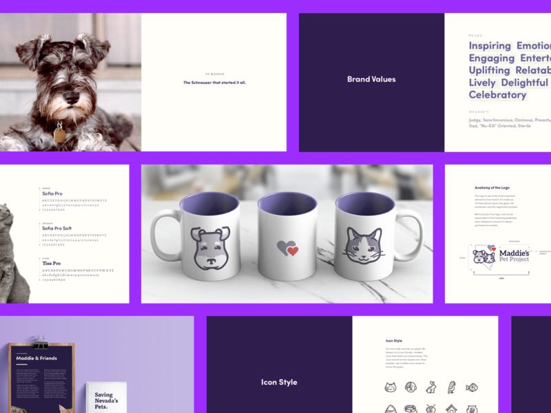 Maddies Pet Project — Brand book cat dog pets design brand kps3