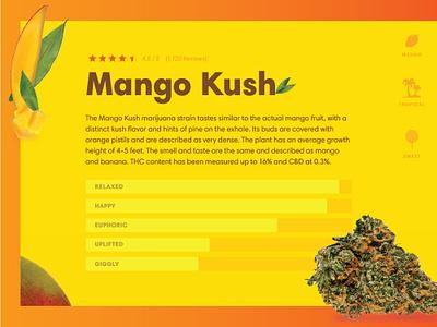 Strain Cards fruit mango strain marijuana weed design blue reno