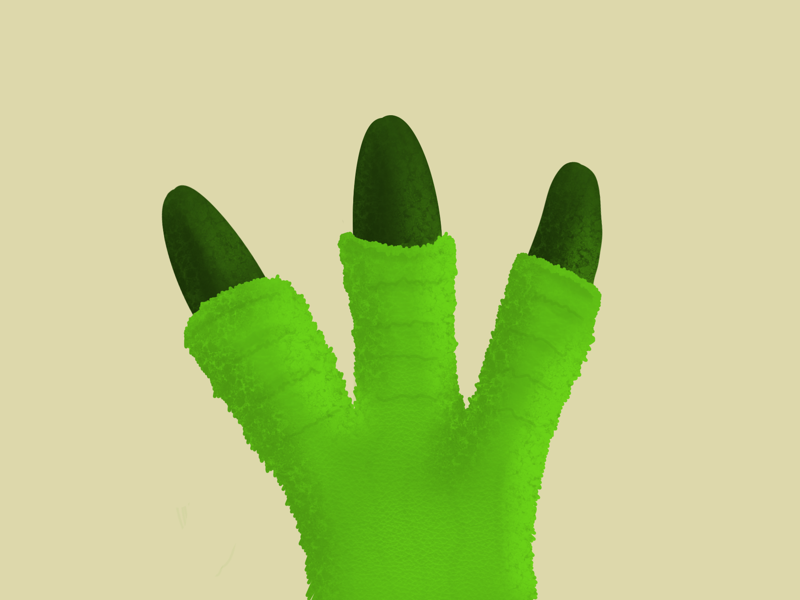 #100DayChallenge Day 5 kps3100 green texture claws procreate monster claw
