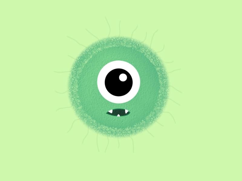 #100DayChallenge Day 6 kps3100 procreate squiglly eyeball green