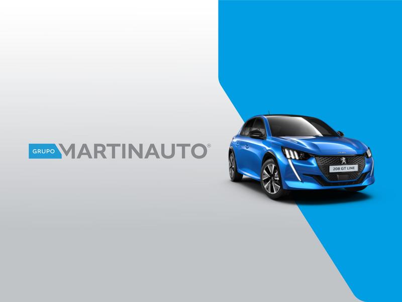 Grupo Martinauto - Branding gray colors auto car logo inspiration inspiration logoconstruction logodesign logo blue mechanic audi skoda peugeot volkswagen cars clean brand design