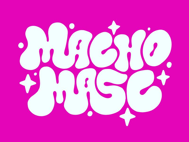 MACHO, MASC ✨ macho masculine masc man lgbtq lgbtqia gay branding logo illustrator illustration designer design hand lettering typography type