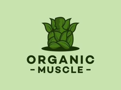 Organic muscle logo design