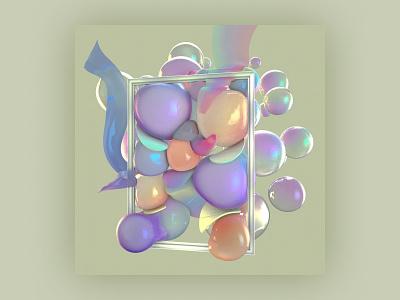 Abstract Object - 15min of Fame glass fame bubble conceptual art commercial art storytelling 3d artwork 3d modeling texture cgi birides branding object mockup abstract design visual art 3d 3d art cinema4d
