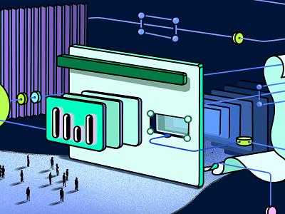 Excel Promotion Artwork for App Store script connection modern psd vector line art byte universe mac app brand design app store apple pencil microsoft excel microsoft office digital drawing illustration ipad pro art ipadpro procreate app