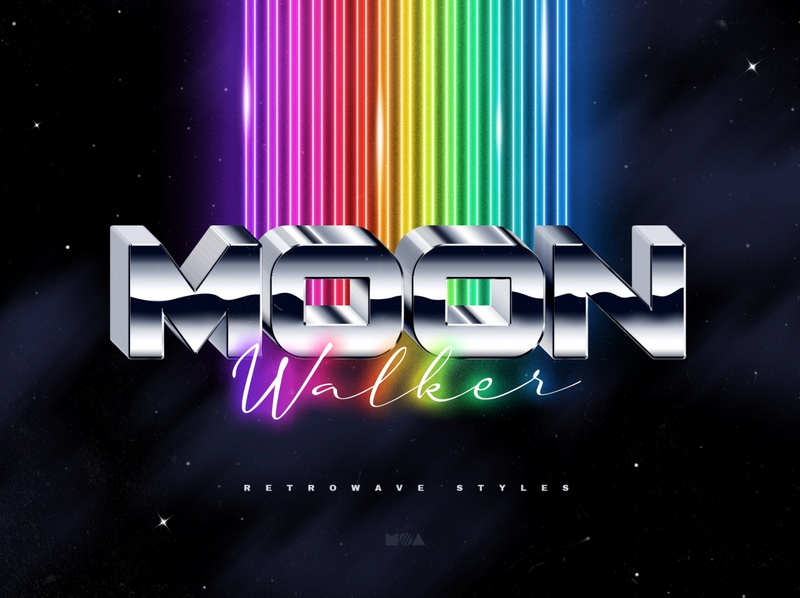 80s Retro Text Effects mockup logo label 3d 1980s 80`s 80s neon synthwave synth retrowave wave new retro styles style photoshop effects effect text