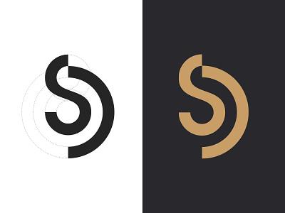 SD Monogram lettering mark typography d s symbol logo identity monogram