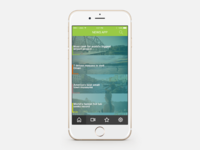 iPhone 6 News App - PSD FREE