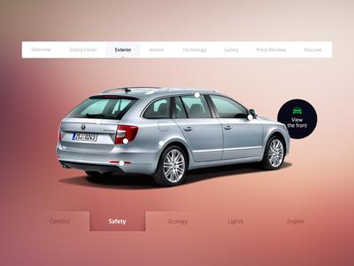 SKODA redesign - exterior page