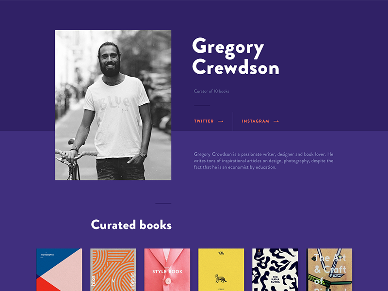 Books subscription preview books subscription profile page preview sneak peek teaser web website colorful