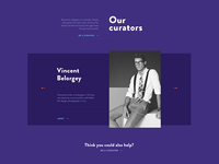 Curators page