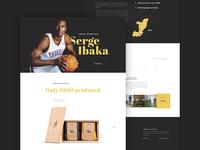 Serge Ibaka Landing page website design landing page socks package charity soxy serge ibaka unicef feed
