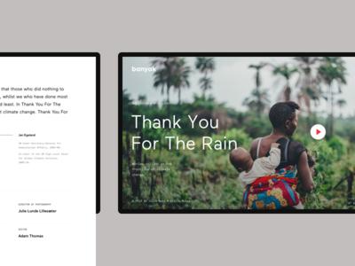 Banyak – Film & Documentary Production agency portfolio microsite ux ui film movie design web website