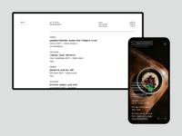 La Degustation Bohême Bourgeoise restaraunt ambiente webdesign design web ux ui website