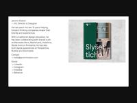 Personal Website minimal personal portfolio branding web ui ux webdesign animation design website