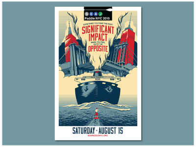 SEA Paddle 2015 Poster illustration typography design