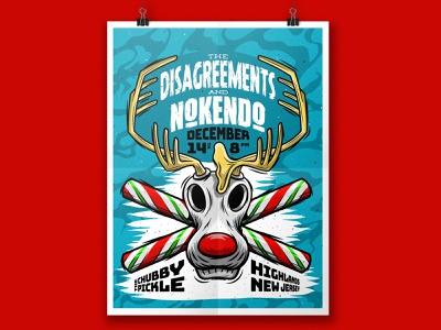 The Disagreements Gig Poster illustration typography design