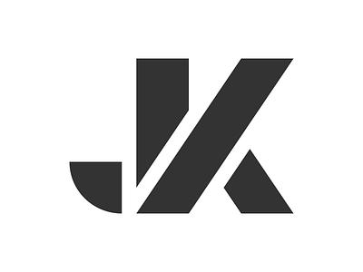 Jeremy Kratz Logo stencil k j monogram logo jk