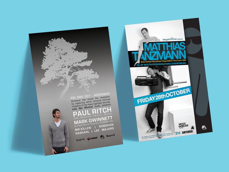 2008 | 2011 Club Posters - Lets Get Minimal