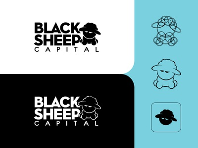 Black Sheep Capital Logo icon branding design branding custom design vector design illustration graphic design custom minimal