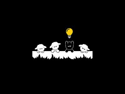 Black Sheep Capital Illustration custom design illustration branding fun design vector graphic design custom minimal
