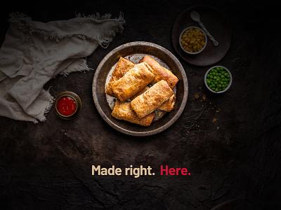 Made right here! minimal branding design branding food illustration deepetch photoshop photography food graphic design custom design custom