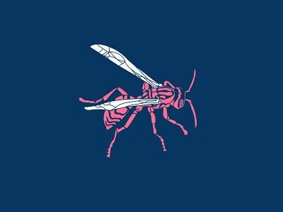 Wasp Illustration illustration art minimal illustrator graphic design custom design vector design illustration custom