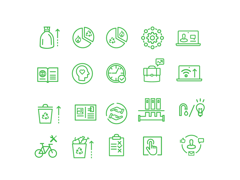 Icons for an ecological project. ecology ux ui design vector web icon