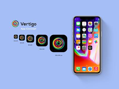 Vertigo app( 2-nd version). design web app ui ux icon logo